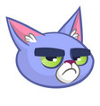 blue cat head cartoon vector image