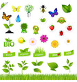 Eco Set With Nature Icons vector image