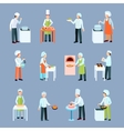 Cook Profession Icons Set vector image