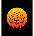 Bats and Bloodmoon Terrible night sky for Hallowe vector image