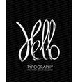 word hello background vector image