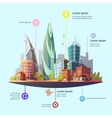 Modern City Downtown Concept Infographic Poster vector image