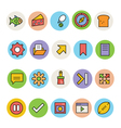 Basic Colored Icons 12 vector image