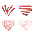 Abstract background with love hearts vector image