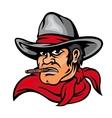 American cowboy man vector image