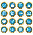 credit icons blue circle set vector image