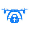 drone loading grunge icon vector image