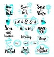 Elements for Save the date invitations vector image