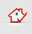 House check logo design element vector image