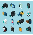Isometric Photo And Video Icons vector image