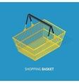 Metal Empty Shopping Basket vector image