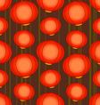 pattern with chinese lamps vector image