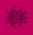 Pink purple Wheel Flower vector image