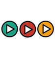 Play icons buttons vector image