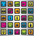 Set of color web icons vector image