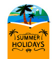 summer beach background summer holidays vector image