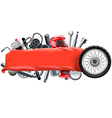 Banner with Motorcycle Spares vector image