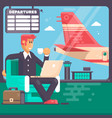 travel business trip concept vector image vector image