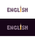 lettering english vector image