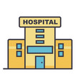 hospital flat line  concept vector image