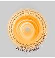 neon light soft orange round with text vector image vector image
