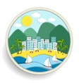 Badge depicting holidays at the sea vector image