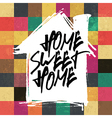 home sweet home colorful tiles pattern vector image