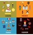 France travel journey and landscape icons vector image