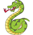 snake cartoon vector image vector image
