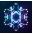 Abstract cosmic fractal snowflake vector image