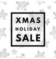 Christmas holiday sale poster vector image