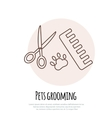 Scissors comb for cutting and grooming pets vector image