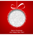 Abstract Christmas ball vector image vector image
