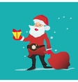 portrait of a Santa Claus with christmas gifts and vector image