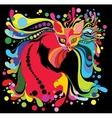 psychedelic cat vector image