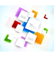 Colorful design with squares vector image vector image
