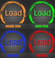 Download now icon Load symbol Fashionable modern vector image