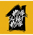 home sweet home on house silhouette vector image