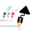 pencil tool icon vector image