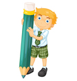 a boy with pencil vector image