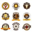 Cowboy Labels Set vector image