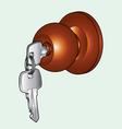 Door knob vector image