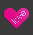 heart love symbol sticker icon vector image