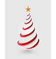 Merry Christmas abstract red tree greeting card vector image