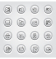 Mobile Devices and Services Icons Set vector image