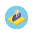 Office Worker Design Flat Icon vector image