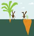 Rabbit and carrot vector image