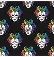 rainbow mask or jester seamless pattern vector image