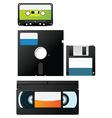 Retro data storage vector image