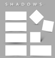 Set of evctor shadow effects vector image